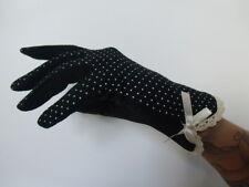 Gants tissu mi saison noir à pois agrippants noeud pinup kawaii harajuku feminin