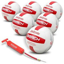 GoSports Pro Series Beach Volleyball 6 Pack Regulation Size & Weight w Pump