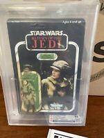1983 Star Wars ROTJ Princess Leia Combat Poncho Figure 79 Back MOC CAS Graded 85