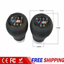 Premium 6 Speed Genuine Leather Gear Shift Knob For BMW 5 7 Series M E36 E46 E34