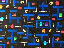 RPFTT55M Retro Arcade Video Game Japanese Style Old School Cotton Quilt Fabric