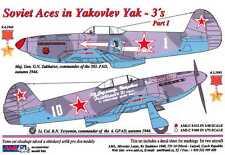 AML Models Decals 1/48 YAKOVLEV Yak-3 SOVIET ACES Part 1