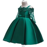 Girl's Bridesmaid Flower Princess Dresses Party Evening Gown Kid Dress Xmas Gift