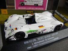 1/43 Onyx xgt012 BMW v12 LMR Becks Las Vegas ALMS 1999 Winkelhock Auberlen #43