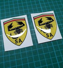 Fiat 500 / 595 / 695 Abarth Scuderia Italia Badge wing Decals / Stickers 60mm