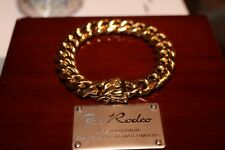 12mm Mens Cuban Miami Link Chain Bracelet 14k Gold Electroplated - FAST SHIPPING