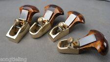 4pcs dissimilar Thumb brass planes(convex bottom +flat-bottom) woodworking tool
