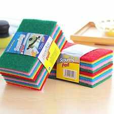 20Pcs Scouring Pads Dish Cloth Cleaning  Srub Spong kitchen rag Package may vary