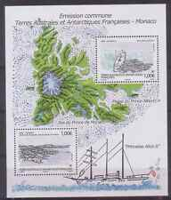 """TAAF - Monaco JOINT Issue - """"BIRDS ~ SHIPS ~ NATURE"""" MNH MS 2012 !"""