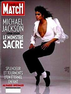 Michael Jackson Farrah Fawcett Magazine Paris Match Tribute 2009 MJ King Of Pop