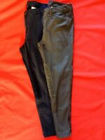 EX M&S INDIGO STRAIGHT LEG TROUSERS ZIP AT HEM SIZES 10,12,14,16,18,20