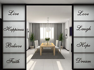 10 Words Wall Quotes Art Vinyl Stickers, Home DIY Wall, Stairs Art -HIGH QUALITY