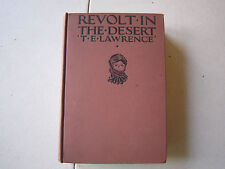 Vintage 1927 REVOLT IN THE DESERT by T.E. Lawrence! 1st American Edition! VG+