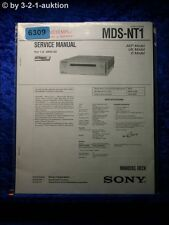Sony Service Manual MDS NT1 Mini Disc Deck (#6309)