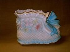 Vintage Napcoware Japan Baby Bootie Shoe Planter-No C-7707-Blue-Pink-White-Cute