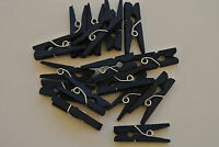 MINI CLOTHES PEGS - Dark Blue x 25 Ideal for Crafting