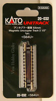 "Kato 20032 N Gauge Unitrack 2-1/2"" (64mm) Magnetic Uncoupler Track 1pc. S64U New"
