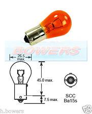 Lucas LLB343 12v 21w Amber Stop Side Flasher Single Exterior Car Bulb 343