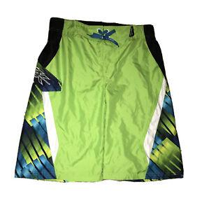 Zero Exposure Boys Size 18-20 X-Large Swimwear Swim Trunks Shorts Green