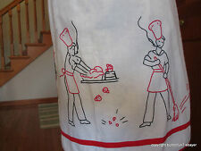 049 – Smoking Baker Man and His Day at the Office Embroidered Vintage Apron