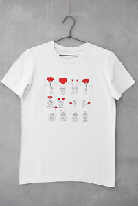 Love Heart T-Shirt Birthday Woman Mom Girls Party Personalised Unisex Customised