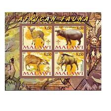 African animals antelope hippopotamus warthog deer Malawi 2008 MNH #L145 IMPERF
