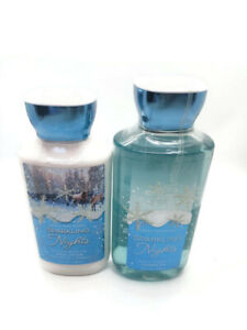 bath and body works sparkling nights shower gel and body lotion