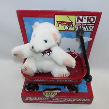 1998 Radio Flyer Snow Teddy Bear Wagon Stuffed Plush New