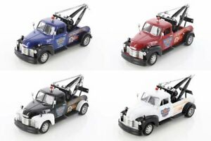 1953 CHEVROLET TOW TRUCK BOX OF 4 1/24 SCALE DIECAST CARS