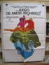 A3694 Juego de amor prohibido Eloy de la Iglesia Javier Escrivá,  Inma de Santis