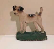 Antique Fox Terrier Dog Cast Iron Bookend Hubley Circa 1930's