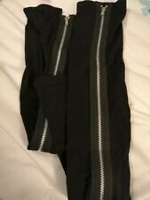 ANN SUMMERS ZIP BACK SEAMED OVER THE KNEE BLACK STOCKINGS SIZE S/M