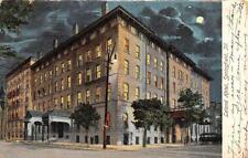 SPRINGFIELD, IL  Illinois      LELAND HOTEL-Evening View     1907 UDB Postcard
