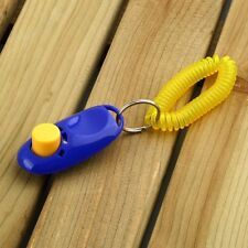 Dog Pet Click Clicker Training Obedience Agility Trainer Aid Wrist Strap WPLJ
