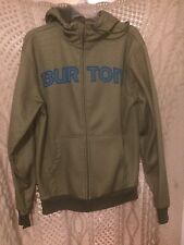 Burton Adult Small Full Zip Hoodie Green and Black Rare Style Perfect Shape