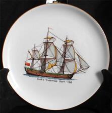 "Vintage ESCHENBACH BARONET Germany COOK'S ""ENDEAVOUR BARK"" 1768 8"" Ship Plate"
