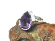 Faceted Amethyst  Sterling  Silver  925 Gemstone  Ring  -  (K)