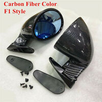 1 Pair F1 Racing Style Carbon Fiber Color Car Side Door Wing Mirror Left & Right