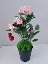 Cute Artificial Little Cherry Blossom Tree Plant Silk Flower Arrangements