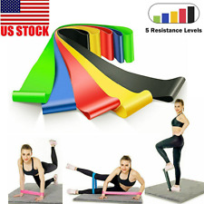 5X Resistance Bands Loop Set Strength Fitness Leg Exercise Yoga Workout Pull Up