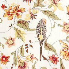 WAVERLY Retweet KING QUILT SET 4p NEW Floral Bird COTTAGE Red Ivory Green COTTON