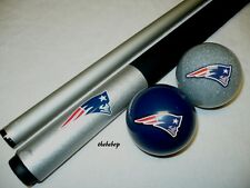 NFL New England PATRIOTS Billiard Pool Cue Stick & Team Logo Cue Ball Combo NEW