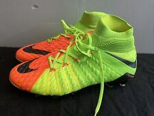 New listing Nike Hypervenom Phantom DF III Orange Green Football Soccer Cleats ACC US 9