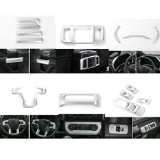 Full Set Silver Interior Decoration Trim Cover Kit For 2015-2017 Ford F150 14pcs
