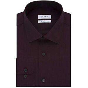 Calvin Klein Men's Regular-Fit Non-Iron Dress Shirt, Maroon, Size XL, $75, NwT
