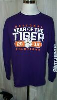 MEN'S CLEMSON TIGERS FANATICS PURPLE LONG SLEEVED SHIRT XL 2016 CHAMPIONS