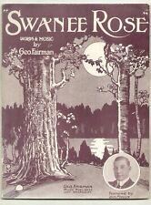 Swanee Rose 1912 JACK MANION Vintage Sheet Music Q05