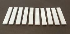 LEGO 10 x Fliesen 1x6 weiß   white tile slab 6636 663601