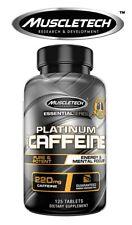 Muscletech Platinum 100% Caffeine (125 Tablets) | Preworkout | Energy Boosters |