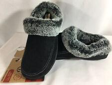 Dearfoam's Women Slippers Faux Suede/Fur Lined~Black~ (5/6) (7/8) (9/10) (11/12)
